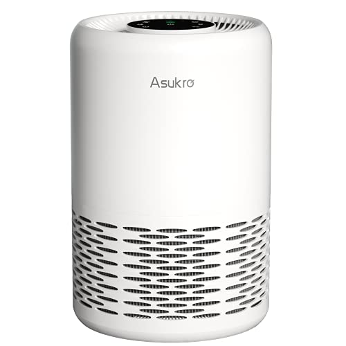 Auto Mode Air Purifier - Asukro HEPA Air Purifiers for Bedroom, Home Air Cleaner Filters Allergies, Smoke, Odors and Dust, True H13 Grade