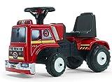 FALK - Porteur camion de pompier - Dès 12 mois - Fabriqué en France - Volant directionnel avec klaxon - 1018