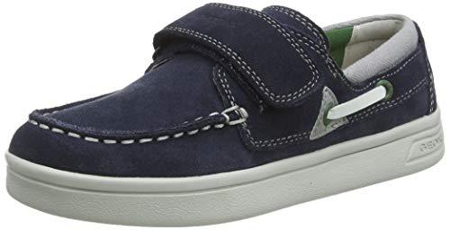 Geox J DJROCK Boy A, Mocassini, Blu (Navy/Green C4248), 36 EU