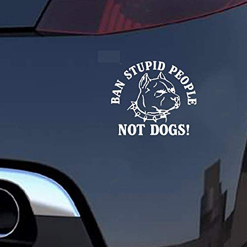 13Cmx11.2Cm verbod stomme mensen geen honden! Pitbull Autosticker Sticker Sticker Accessoires voor auto Laptop Window Sticker
