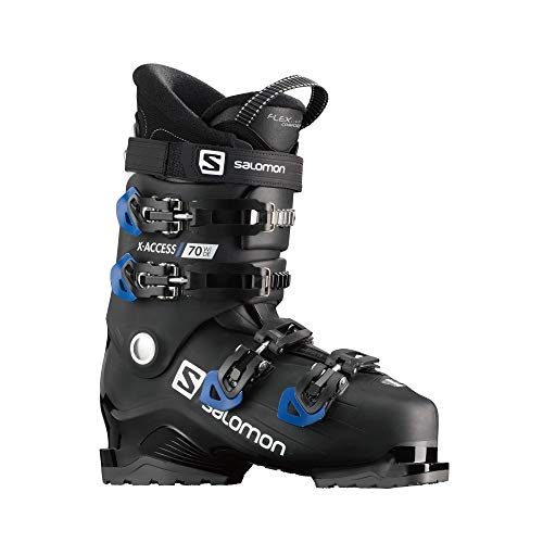 Salomon X Access 70 Wide Ski Boots Mens Sz 10/10.5 (28/28.5) Black/Race Blue/Wht