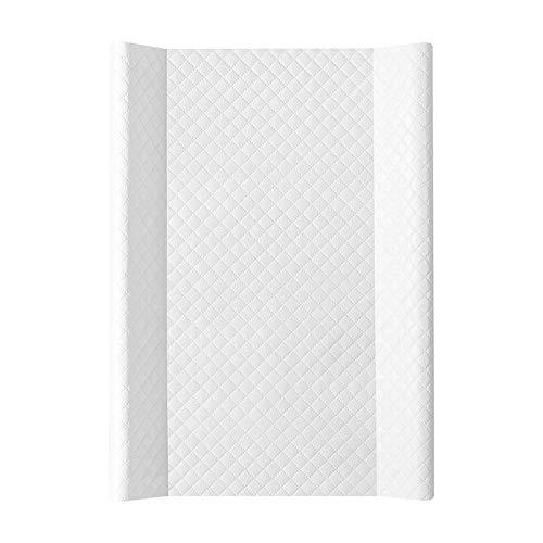 Wickelauflage Wickelunterlage Wickeltischauflage 2 Keil 80x50 cm, 70x50 cm Abwaschbar - Caro Weiß 70 x 50 cm