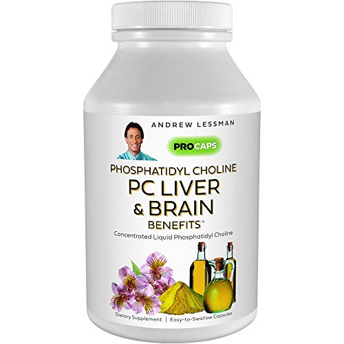 Andrew Lessman PC Liver & Brain Benefits 360 Softgels - Phosphatidyl Choline, Most Important Building Block for Healthy Liver and Brain Structure and Function. No Additives. Easy to Swallow Softgels