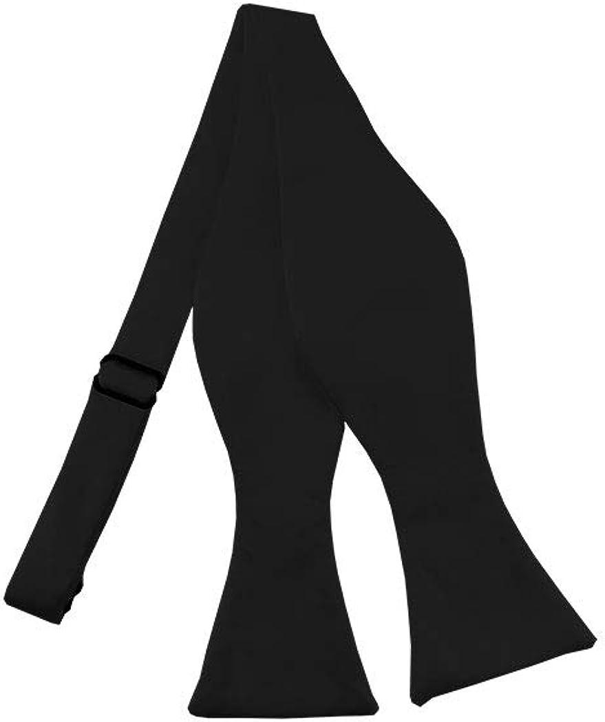 Solid Black Self-Tie Bow Tie