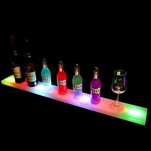 Encendido LED Botella del Licor Pantalla de luz Estante con Mando a Distancia para la Botella de la Boda del jardín Fiesta de Navidad Home Bar Bebidas Bandeja estantes de iluminación,600mm*110mm*24mm