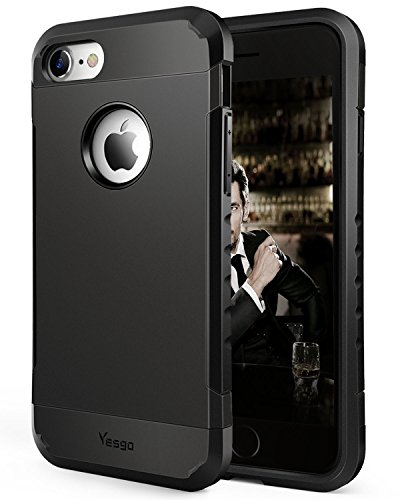 Yesgo iPhone 7 Case Anti-Scratch Shockproof Protective Case Cover Black