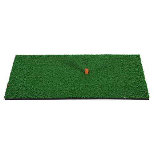 WINOMO Golf Wohn Praxis Schlagen Matte Gummi T Halter Gummi Tee Halter Realistische Gras Putting Matten Tragbare Outdoor Sports Golf Ausbildung Rasen Matte 30x60 cm