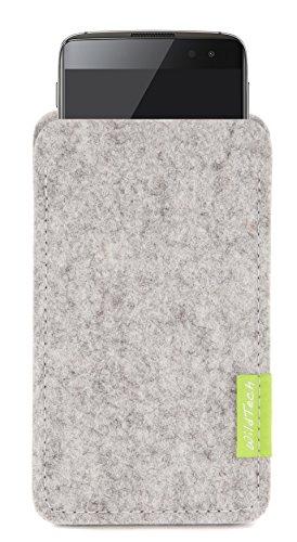 WildTech Sleeve für BlackBerry DTEK60 Hülle Tasche aus echtem Wollfilz - 17 Farben (Handmade in Germany) - Hellgrau