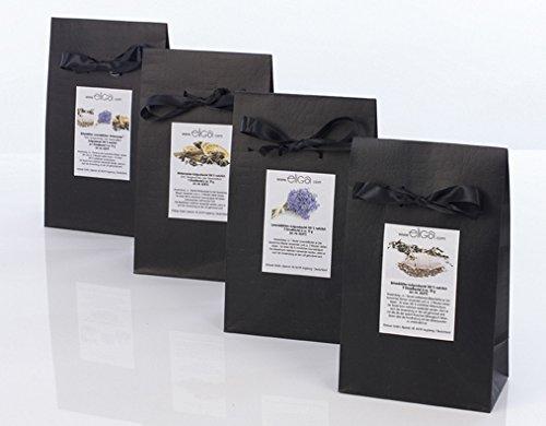 Saunaaufguss-Set mit Birkenblätter, Lavendelblüten und Wintermagie (Zimt, Orangenschale, Anis, Nelken) | 100% natürliches Beutelset | Geschenkset