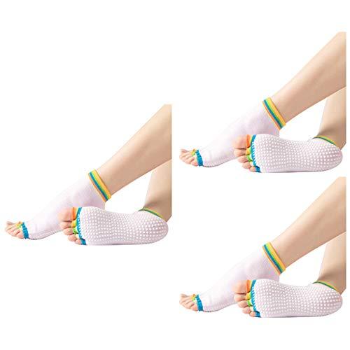 Yoga Socks for Women with Grip Non Slip Toeless Half Toe Socks for Ballet Pilates Dance Grip Pilates Barre Anti-Skid Sticky Socks