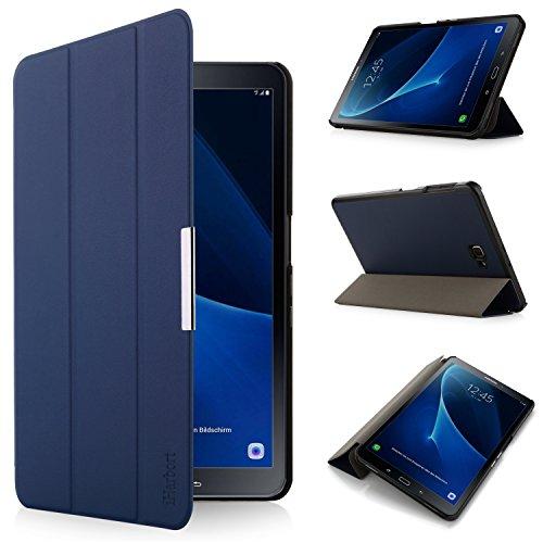 iHarbort Samsung Galaxy Tab A 10.1 Cover custodia in pelle, ultra sottile di peso leggero Case Cover custodia in pelle per con il sonno / sveglia la funzione Samsung Galaxy Tab A 10.1 pollice (2016 Version SM-T580N SM-T585N), (Galaxy Tab A 10.1, Bleu foncé)