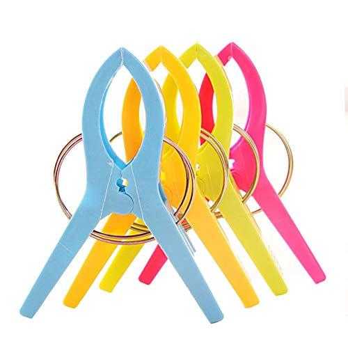 LLAAIT 4 stks Grote Heldere Kleur Kleding Kunststof Strandhanddoek Pegs Wasknijper s Aan Zonnebank Wasknijpers Decoratie Waskleding