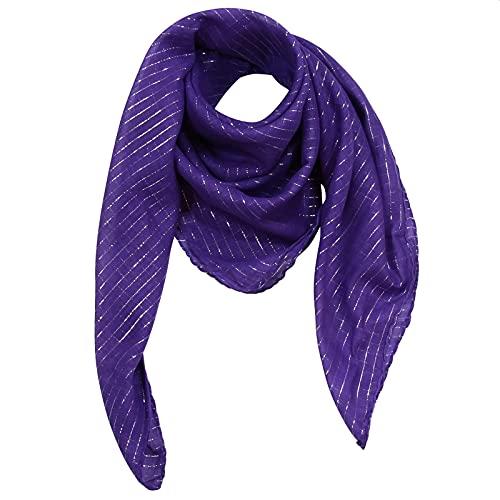 Superfreak Baumwolltuch - lila Lurex silber - quadratisches Tuch
