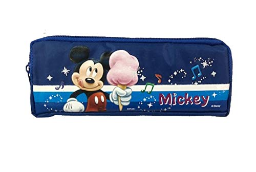 Mickey Mouse Double Zippered Pencil Case - Blue - Cotton Candy