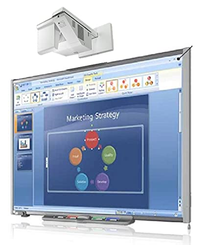 """77"""" Interactive whiteboard with Projector Bundle for Classroom (Plug and Play)"""