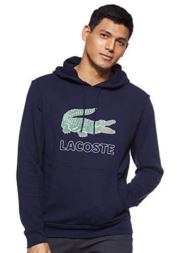 Lacoste Herren Sh6342 Sweatshirt, Blau (Marine 166), Large (Herstellergröße: 5)
