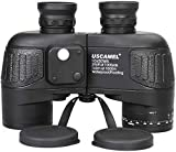 USCAMEL 10x50 Marine Binoculars for Adults, Waterproof Binoculars with Rangefinder Compass BAK4 Prism FMC Lens Fogproof for Navigation Birdwatching Hunting