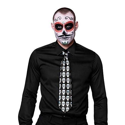 Cravatta teschio Calaveras Dia de los Muertos (130 cm)