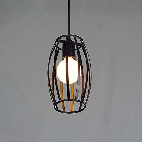 Yankuoo Vintage smeedijzeren lantaarn kroonluchter, retro industriële kroonluchter Forged lampshade kroonluchter bar gang LightingE27