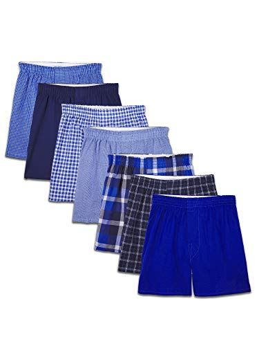 Fruit of the Loom Boys' Boxer Shorts, Woven - 7 Pack - Assorted, X-Large