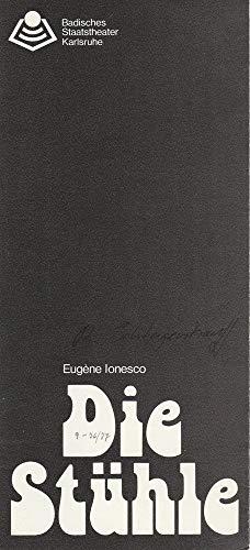 Programmheft Die Stühle. Tragische Farce von Eugene Ionesco Spielzeit 1976 / 77 Heft 9