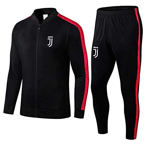 ZuanShiDaHeng 19-20 Erwachsene Sportswear Jacke Anzug Geschenk Herren Sportswear Full Zipper Fitness Fußballtraining Warm-Up Anzug Schwarz @ Photo Color_XL