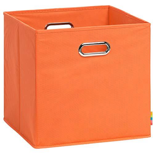 (H&S) Aufbewahrungsbox LEA - Faltbox - Korb - 33x33x33 cm - (Orange)