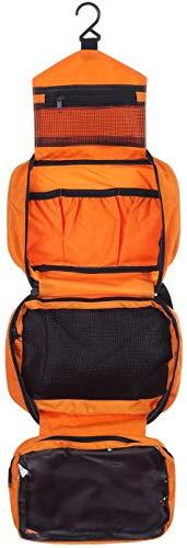 Ducomi Travel Life! Beauty Case - Borsa da Viaggio - Organizzatore Viaggio Unisex - Misura Aperto: 22 x 61 cm (Orange)
