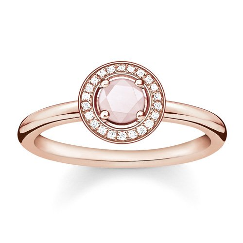 Thomas Sabo Damen-Ring Glam & Soul 925 Silber Diamant (0.05 ct) weiß Quarz Gr. 54 (17.2) - D_TR0009-925-9-54