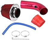 Car Air Intakes XYPLM Kit de admisión de aire frío Filtro de aire automotriz 76mm 3 pulgadas Coche universal Filtro de admisión de aire frío de aluminio Aluminio de admisión de admisión de la manguera