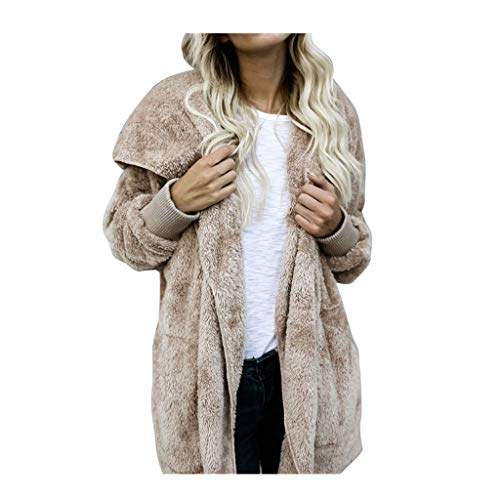 SHINEHUA Teddy Fleece jas met capuchon dames zwart fleece jack gebreide fleece winter pluche jas gewatteerde jas faux wol warm outwear winterjas winterparka