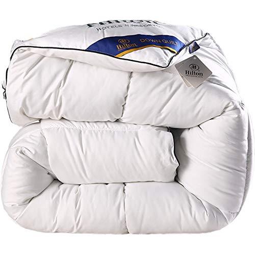 VEDKYY Duvet Double Bed 13.5 Tog Winter Duvet King Size Bedding Double Bed White Goose Feather Down Quilt Soft Bedsure Double Duvet Set Anti-Allergic Super Warm Silky Quilt 200X230, 5Kg