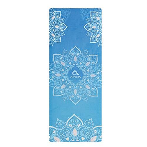L&Y Tapis De Yoga Multifonctionnel Pliable Et Antidérapant Portable | Caoutchouc Naturel Écologique | Microfibre Douce Et Parfaite | Bikram Et Yoga Chaud | 183 * 61Cm,C