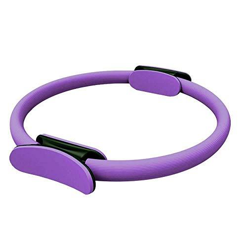 Anillo de Pilates Círculo Mágico para Fitnes, Aro de Pilates para Entrenamiento Fitness los Muslos Internos y Externos Mejora la Fuerza Flexibilidad y Postura (Púrpura)