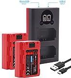 Baxxtar Pro (2X) Compatible con la batería Sony NP-FZ100 con Cargador Mini 18582 LCD Dual generación 2