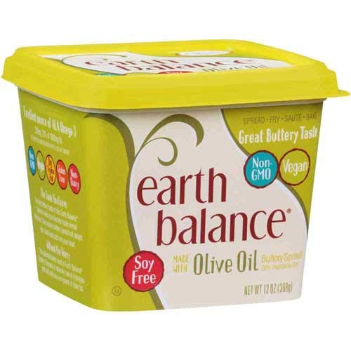 Earth Balance Extra Virgin Olive Oil Buttery Spread, 13 Ounce -- 6 per...
