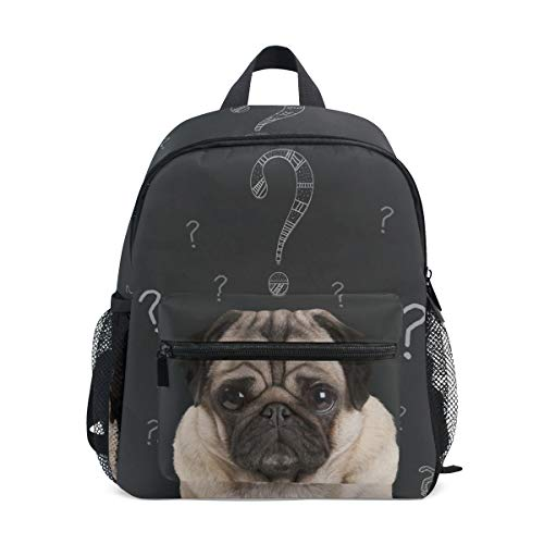 Rucksack Tasche Curious Dogs Question Rucksack für Jungen und Mädchen Cute Outdoor Casual Daypack