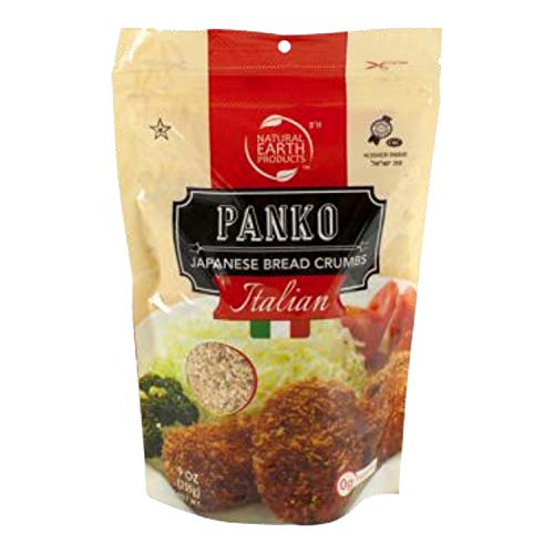 Panko Bread Crumbs - Italian Flavored Japanese Bread Crumbs - Perfect for Cooking - Kosher Certified - 9 Oz (Single)
