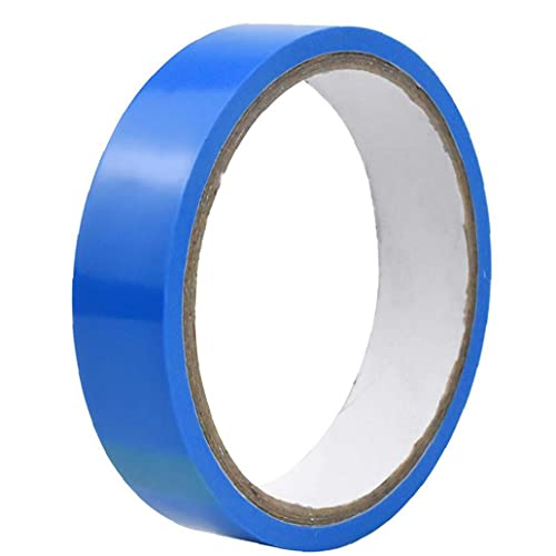Liadance Vacuum Inner Tube Sealing Tape Blue Bike Tire Tubeless Rim Strip Protection Cushion Band for Fiber Tube Wheel Mountain Road Bicycle Tubeless Adhesive Tire Tape 21mm