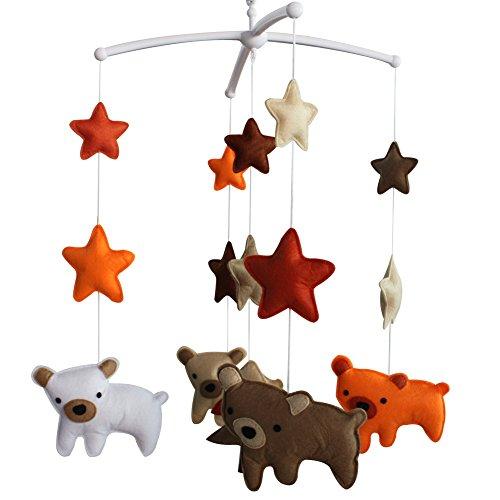Berceau de lit de bébé rotatif coloré jouets de bébé [Ours qui marche]
