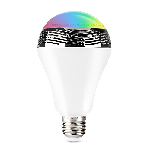 1byone Wireless Bluetooth Speaker Smart LED Light Bulb with Free APP Controlled