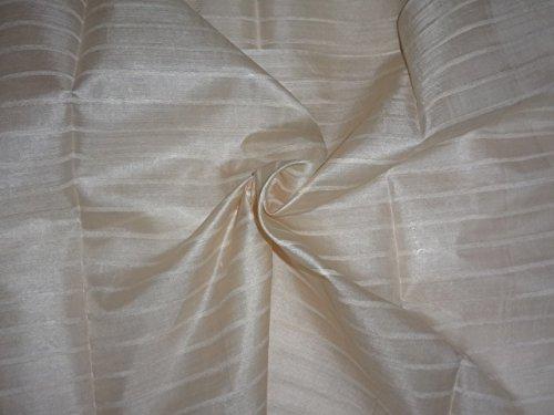 Puresilks Tussar Silk Fabric With Silk Stripes 44'