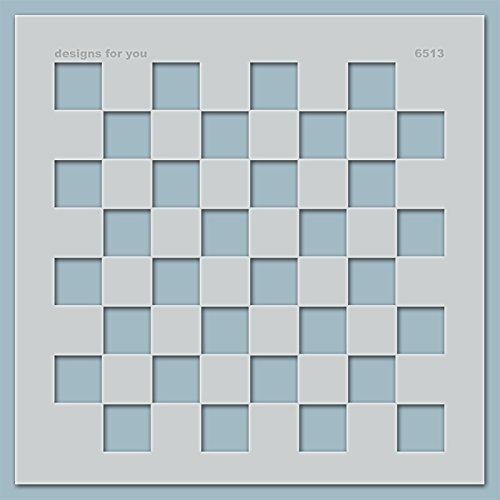 Schablone – Schachbrett, 6513, M, L, XL, XXL, Malerschablone, Wandschablone, Schablonenfolie