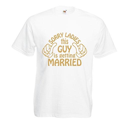 Camisetas Hombre Lo Siento señoras - Regalo Gracioso, Citas de Beber, Lemas de la Barra, Tiempo de Fiesta, Humor del Alcohol (XXXXX-Large Blanco Oro)
