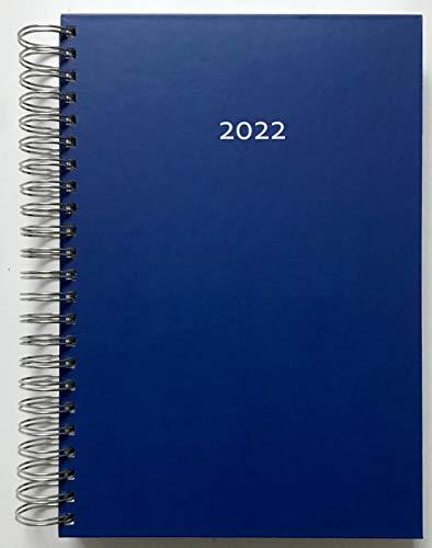 2022 Dicker Kalender – DUNKELBLAU – Spiralbindung – pro Tag eine volle DIN A4 Seite Platz – Tageskalender | Bürokalender | Terminkalender | Planungsbuch | TageBuch-Kalender | KITA-Kalender