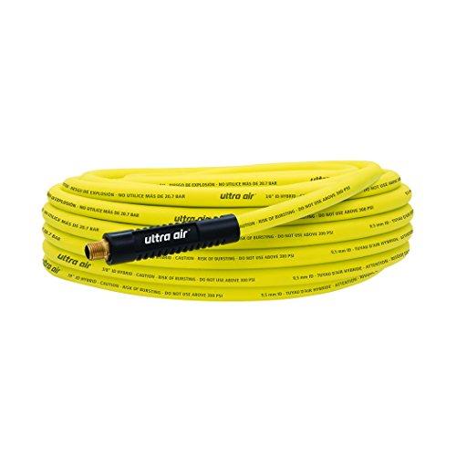 Plews & Edelmann Amflo 575-50A Non-Kinking, 300 PSI, Ultra Hybrid Air Hose 3/8' X 50', Yellow