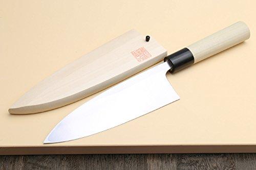 "Yoshihiro High Carbon Shiroko Kasumi Deba Japanese Fillet Chef's Knife 6""(150mm)"