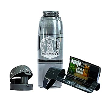 Viking Lair Sports Water Bottle With Safe Secret Compartment - BPA-Free - Beach & Travel Discreet Valuable Stash Can Vault & Storage - Airtight Lid - Anti-crack Material – Easy to Clean & Leak Proof