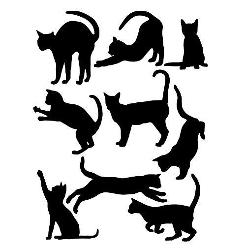 Preisvergleich Produktbild KOFUN DIY Removable Wandaufkleber,  Vinyl Kunst DIY Zitat Katzen Wand Aufkleber Wandbild Aufkleber Home Room Decor schwarz