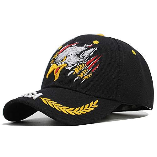 YYLKKB Gorras de béisbol de Las Mujeres para Hombre Casual Acrílico Lavable Ajustable Eagle Eagle Sombrilla Sombreros Versátiles Multi-Color Opcional-B_Ajustable